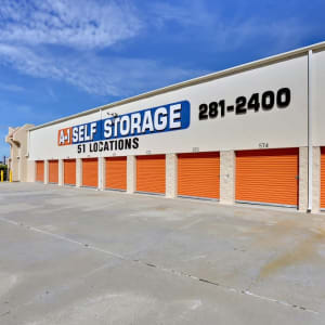 Outside units at A-1 Self Storage in San Diego, California