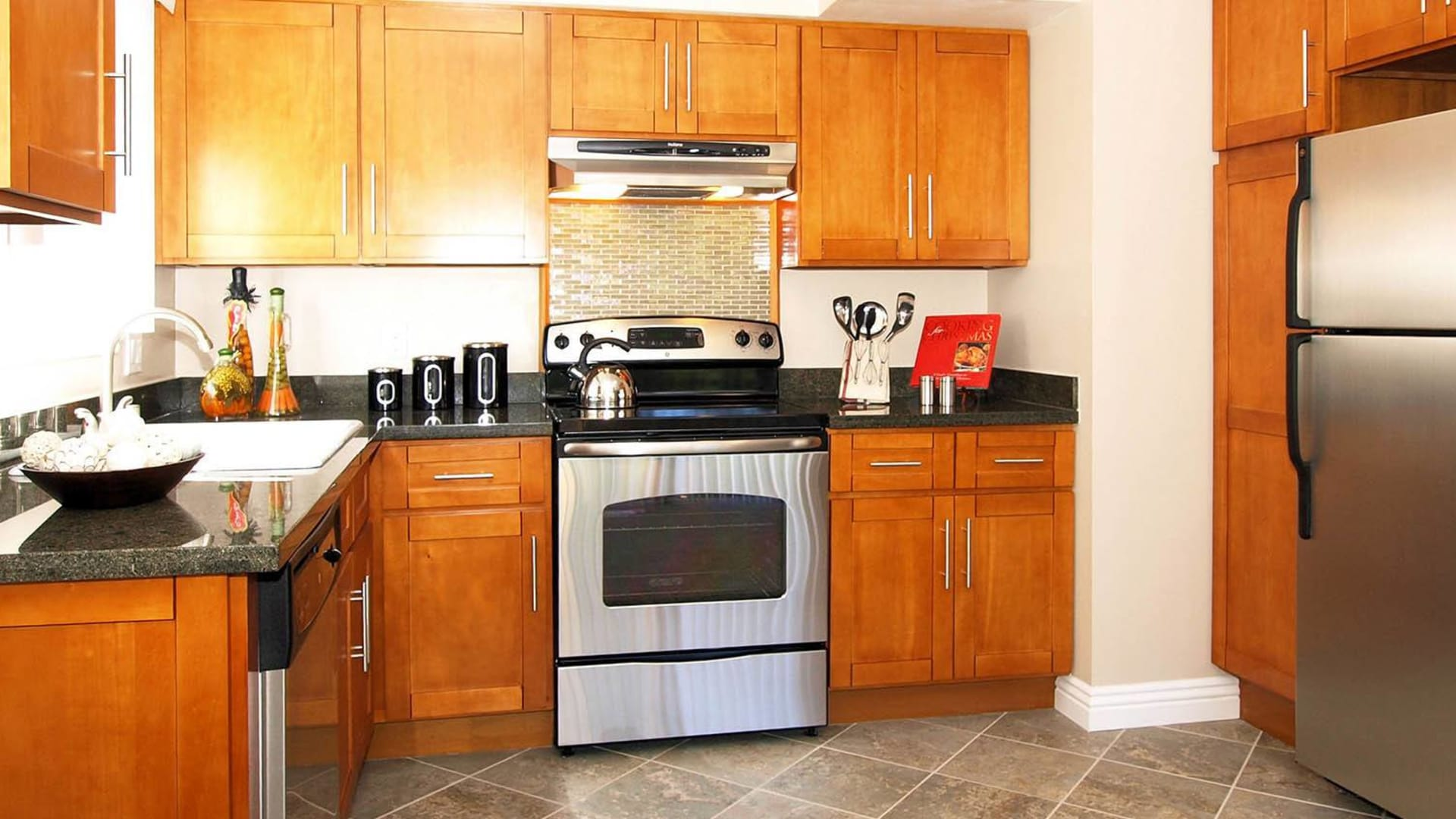 Kitchen appliances at Spring Lake Apartment Homes in Santa Rosa, California