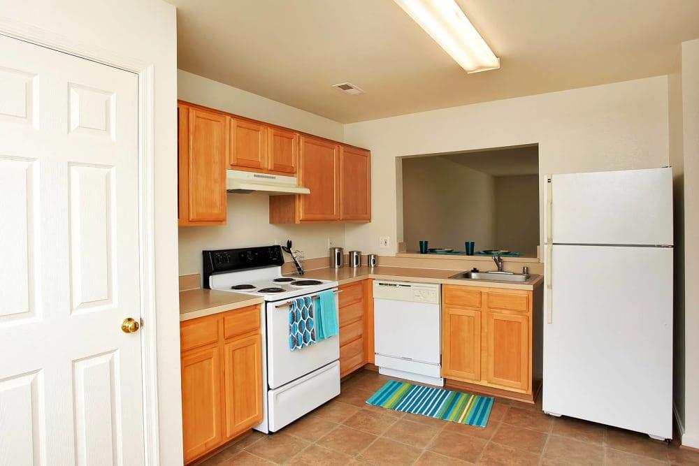 Kitchen at townhomes in Fredericksburg