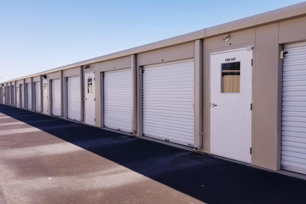 Exterior storage units at All Seasons Self Storage in Wilmington, North Carolina