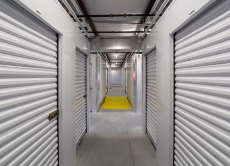 Interior hallway and storage unit at StorQuest Express - Self Service Storage in Deltona