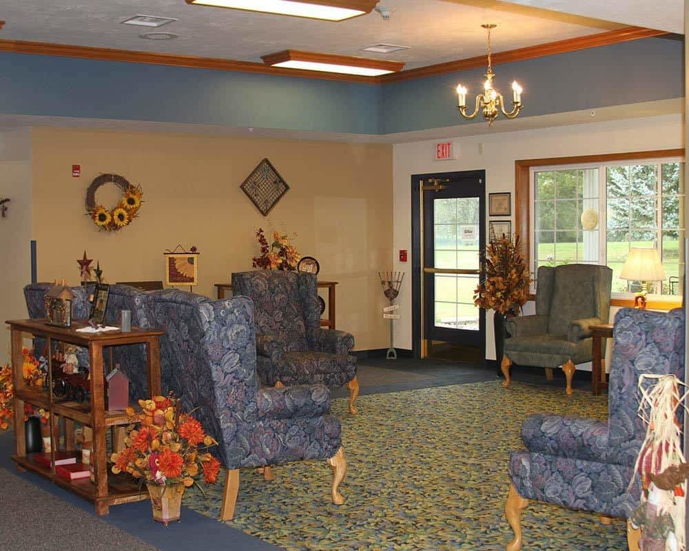 Comfortable seating area at Holstein Senior Living in Holstein, Iowa.
