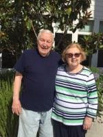 Lila and Richard, residents at Merrill Gardens at Huntington Beach in Huntington Beach, California.