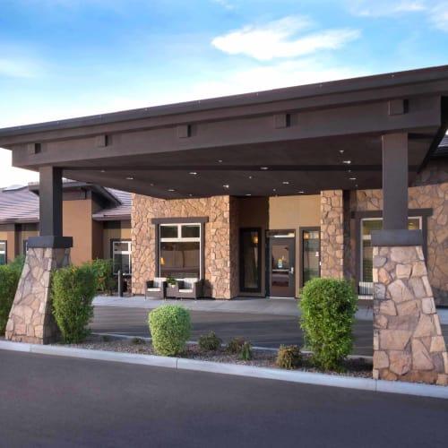 Exterior of Avenir Senior Living in Scottsdale, Arizona.