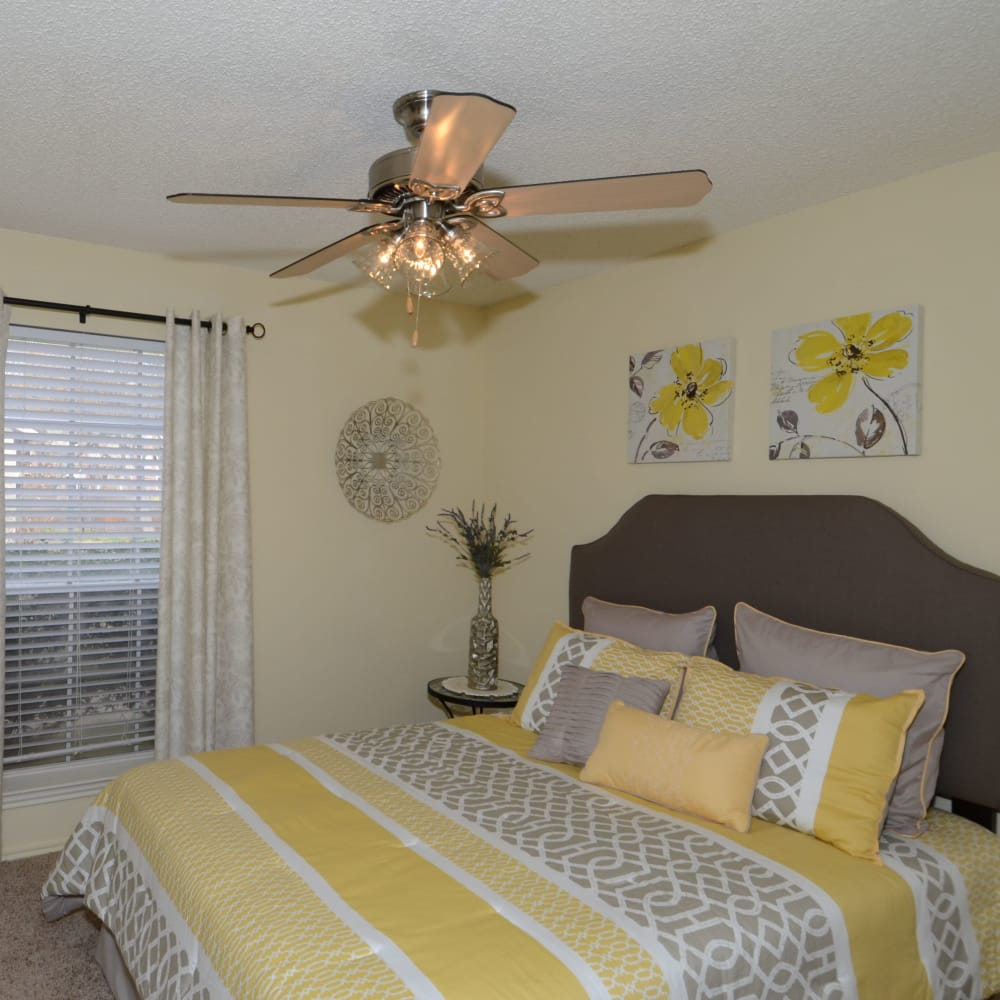 Bedroom at Newport Apartments in Amarillo, Texas