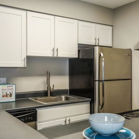 Dining area at City Center Station Apartments in Aurora