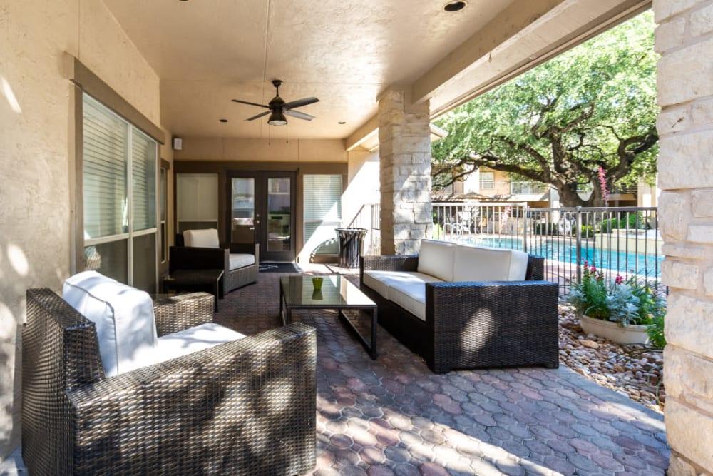 Private patio at Marquis at Ladera Vista in Austin, Texas