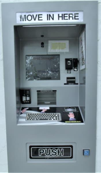 The kiosk at Global Self Storage in Lima, Ohio