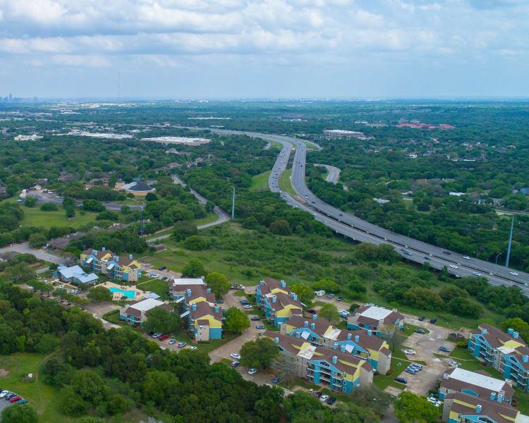 Beautiful view of Nichols Park in Austin, Texas