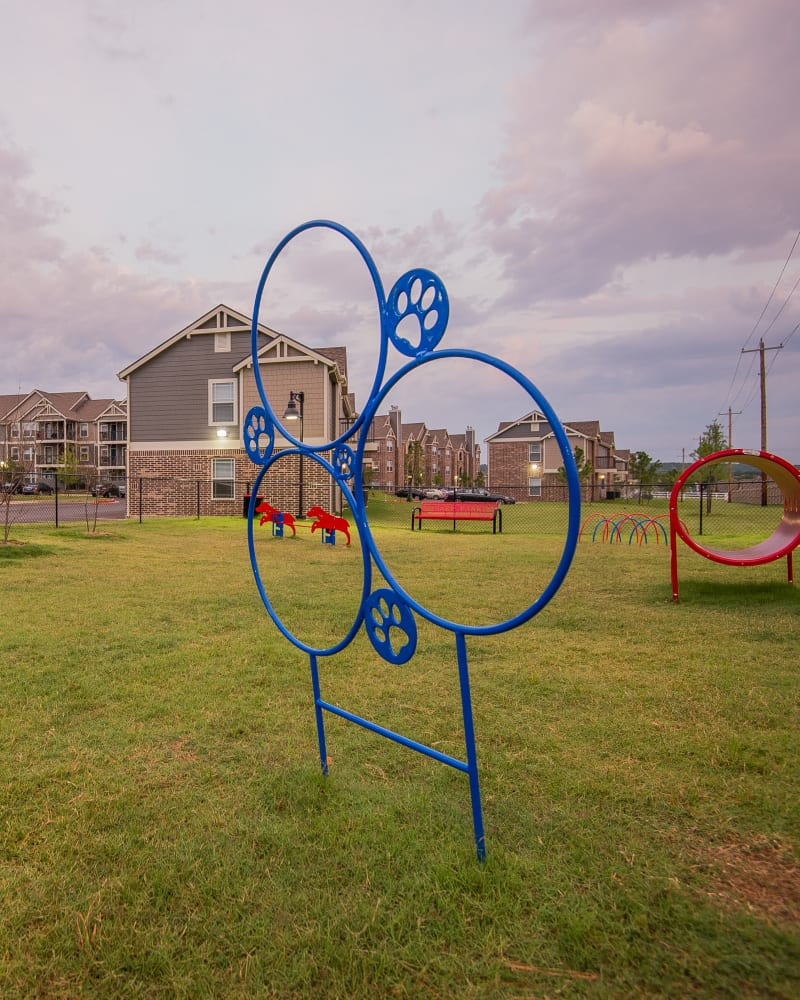 Dog park at Scissortail Crossing Apartments in Broken Arrow, Oklahoma