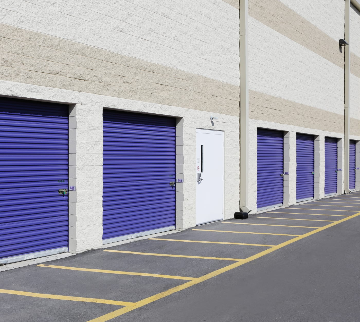 Ground-floor units at StoreSmart Self-Storage in Durham, North Carolina