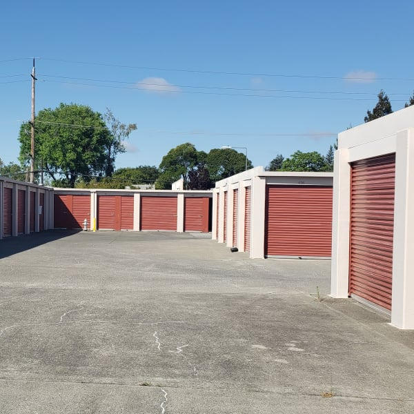 Drive-up access storage units at StorQuest Self Storage in Napa, California