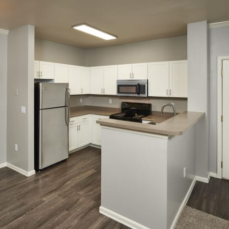 Dining area at Westridge Apartments in Aurora