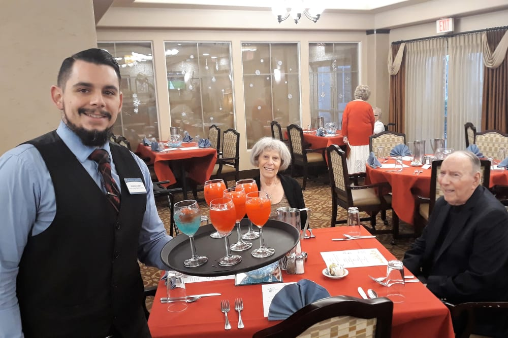 Fire and Ice party at Merrill Gardens at Green Valley Ranch in Henderson, Nevada.