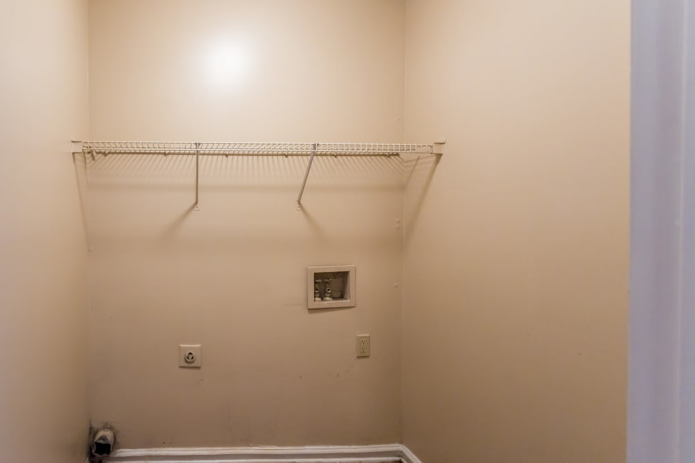 Washer and dryer hookups at Park Ridge Apartments in Jackson, Tennessee