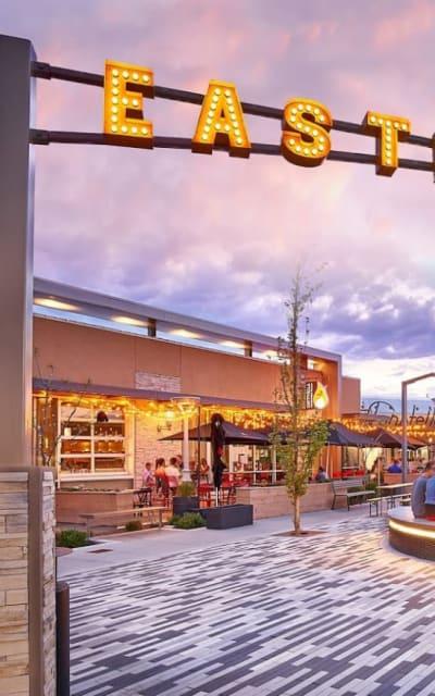 Eastbridge town center in Denver, Colorado near Solana Stapleton Apartments