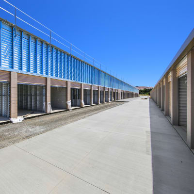 Outdoor ground floor units being built at Storage Star Napa in Napa, California