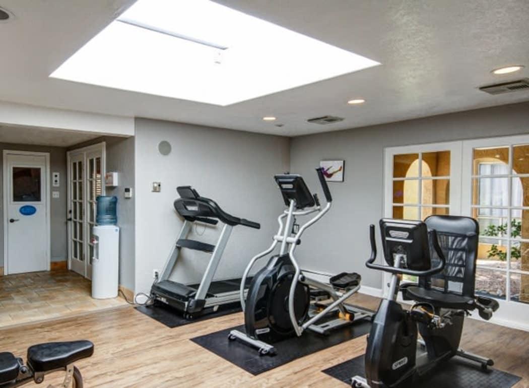 Fitness center at Casa Tierra in Albuquerque, New Mexico