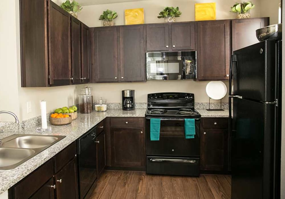 Enjoy a modern kitchen at Pecos Flats in San Antonio, Texas
