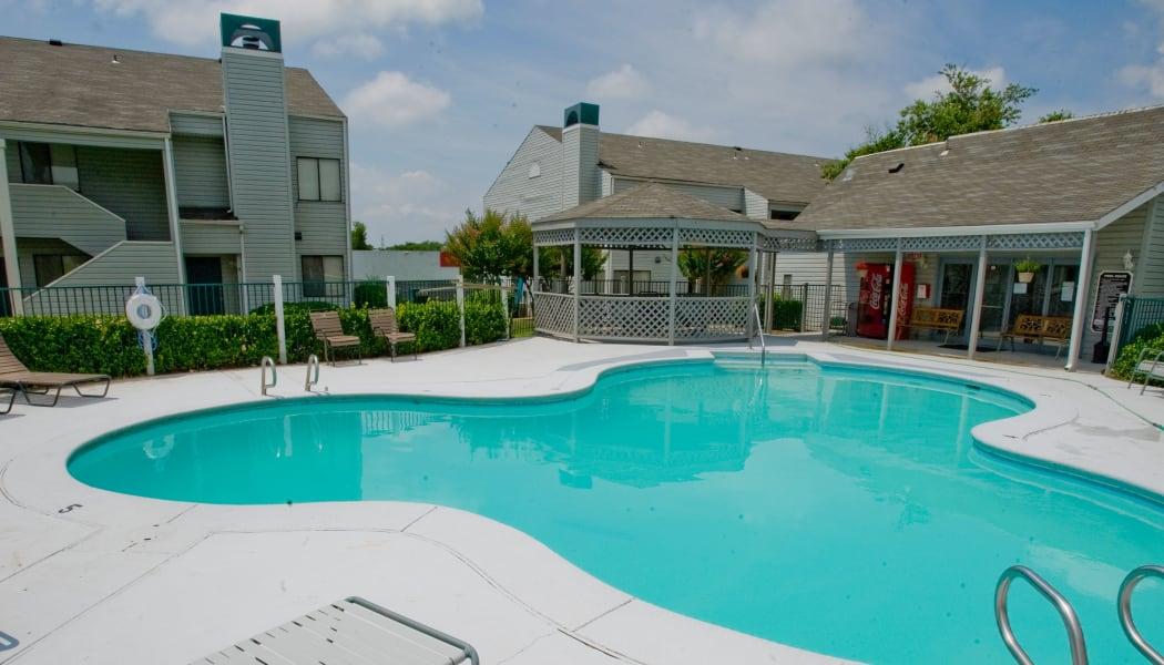 The community pool at Boulder Ridge in Tulsa, OK
