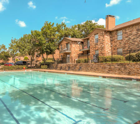 Community pool at Stone Ridge Apartments