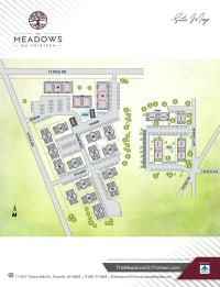 Site map of The Meadows on Thirteen in Roseville, Michigan