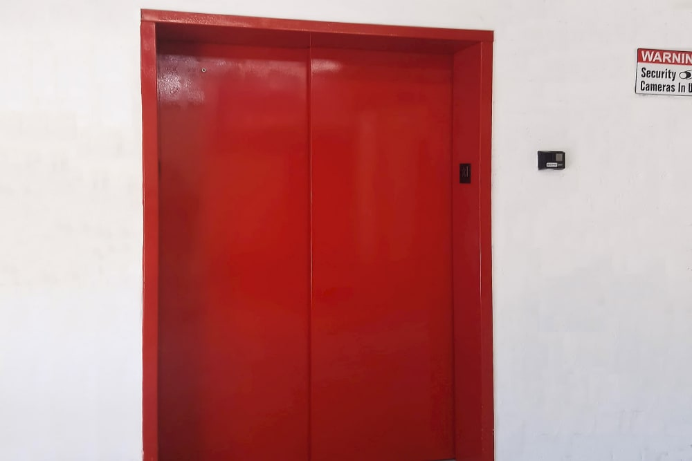 Elevator access at Prime Storage in North Miami, Florida