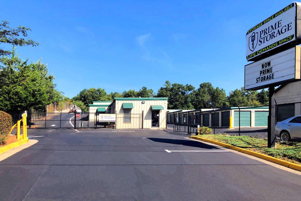 Front entrance at Prime Storage in Marietta, Georgia