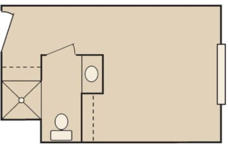 Floor plan A at MuirWoods Memory Care in Petaluma, California