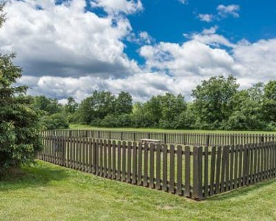 Dog park in our High Acres Apartments & Townhomes community situated in Syracuse, New York