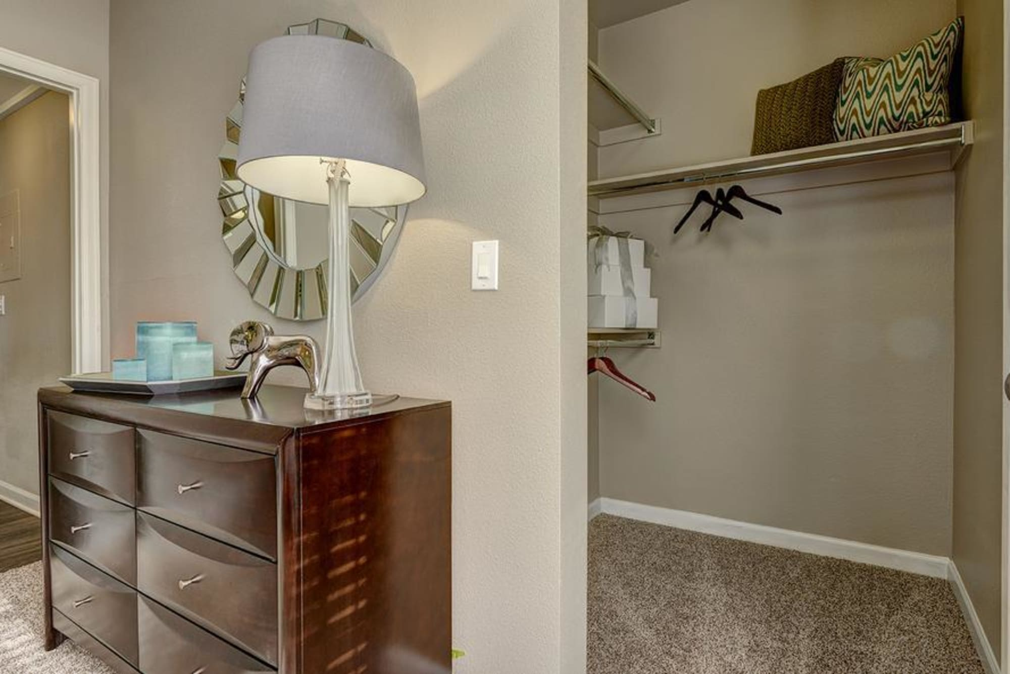 Spacious closet in Villas at Homestead Apartments