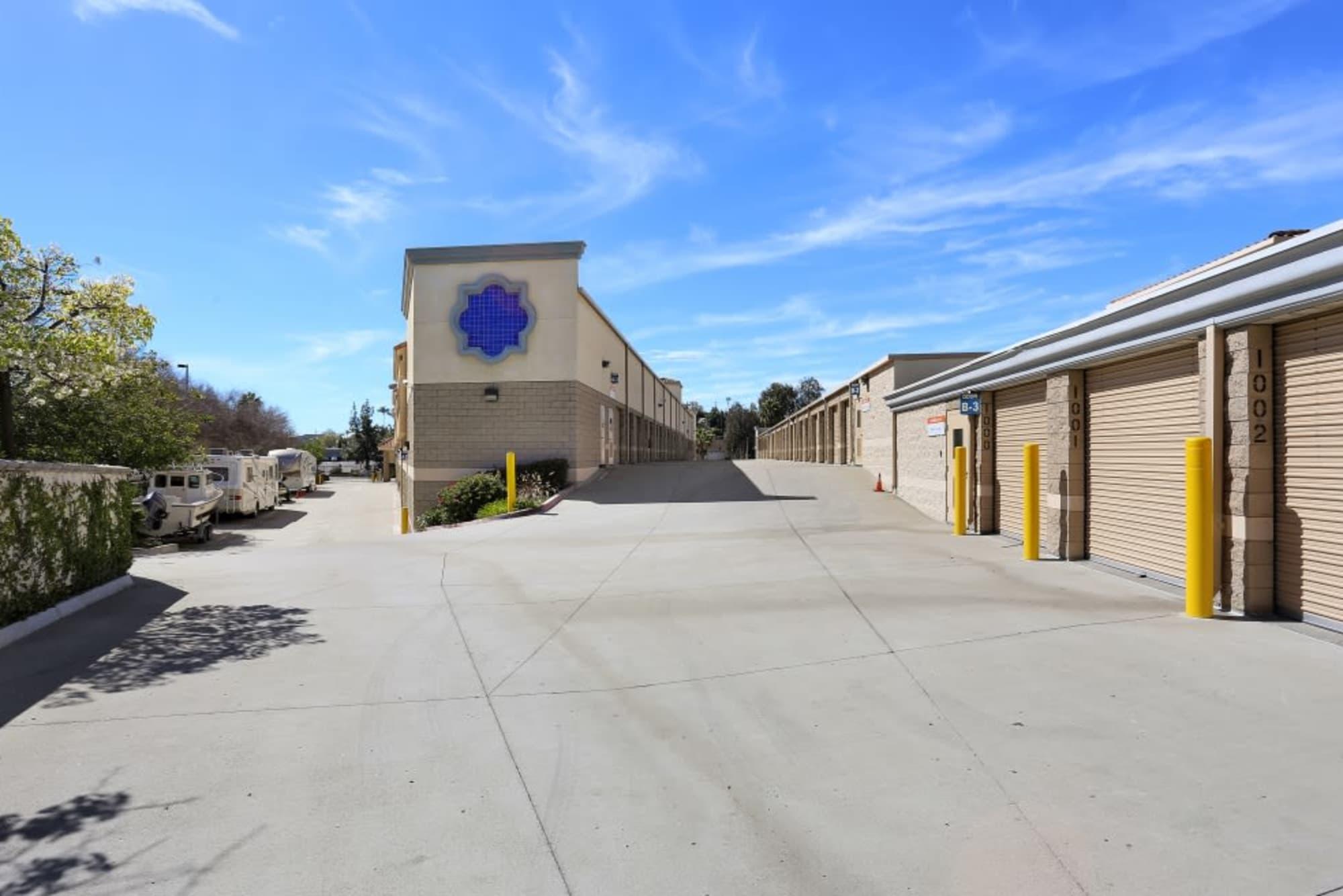 Drive-up storage units at A-1 Self Storage in La Mesa, California