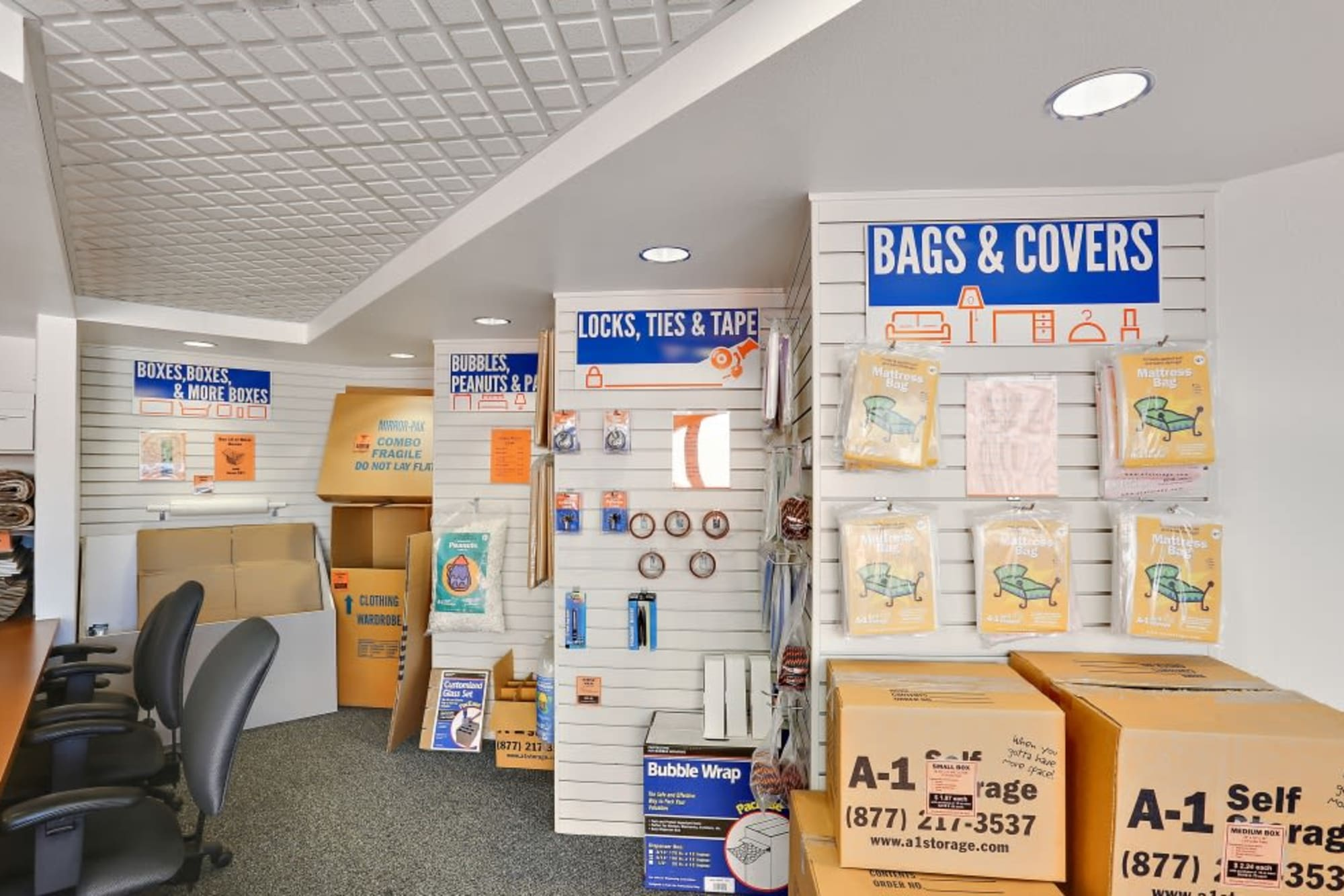 Packing and moving supplies available from A-1 Self Storage in Oceanside, California