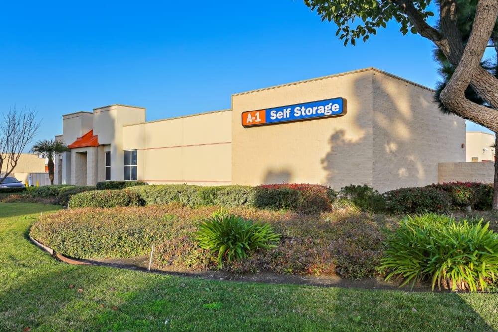 Exterior view of A-1 Self Storage in Huntington Beach, California