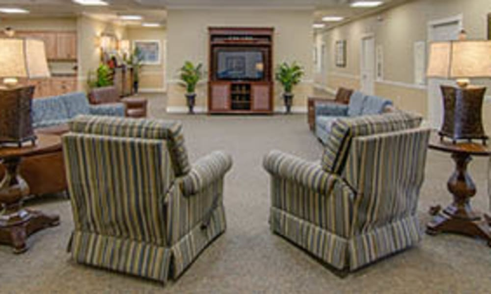 Sitting area at Waldron Place Senior Living in Hutchinson, Kansas