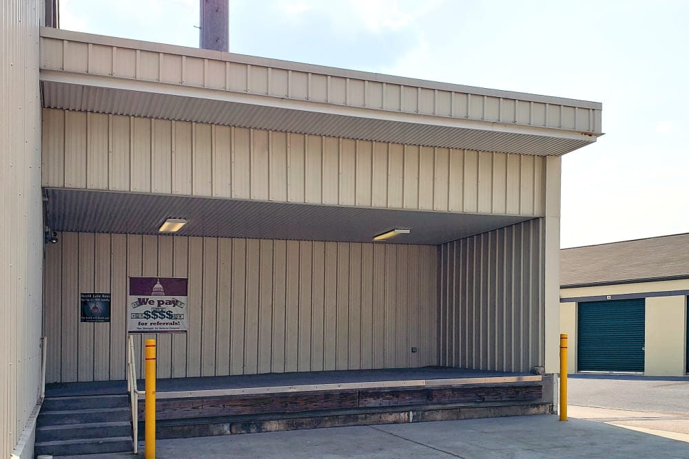 Load zone at Capital Self Storage in York, PA
