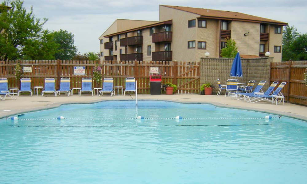 Modern swimming pool at Cedar Ridge in Richton Park, Illinois
