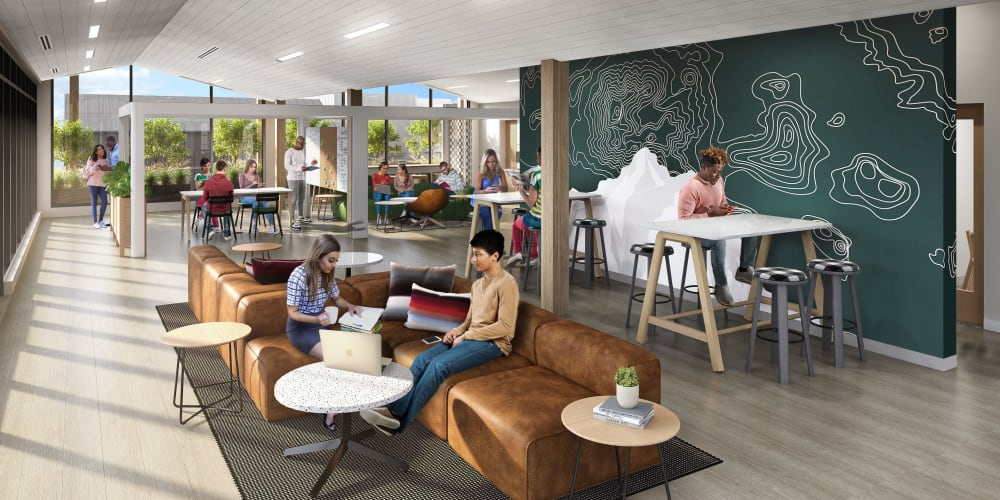 Co-working space at UNCOMMON Flagstaff in Flagstaff, Arizona