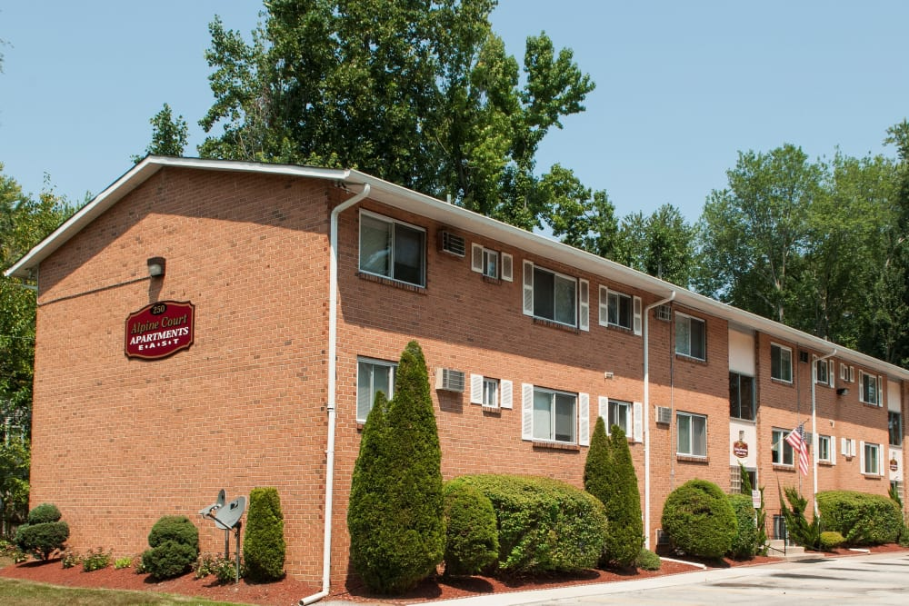 Exterior of Alpine Court East Apartments in Lindenwold, New Jersey