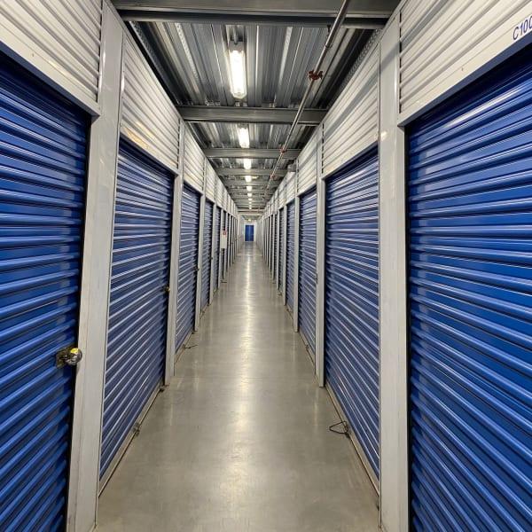 Outdoor storage units at StorQuest Self Storage in Carson, California