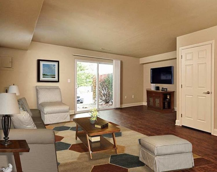 Living room at The Village of Laurel Ridge in Harrisburg, Pennsylvania