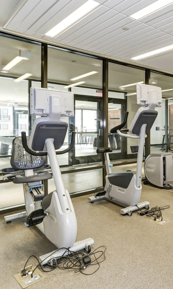 Full sized state of the art fitness center at Metropolitan Rockville Town Center in Rockville, Maryland