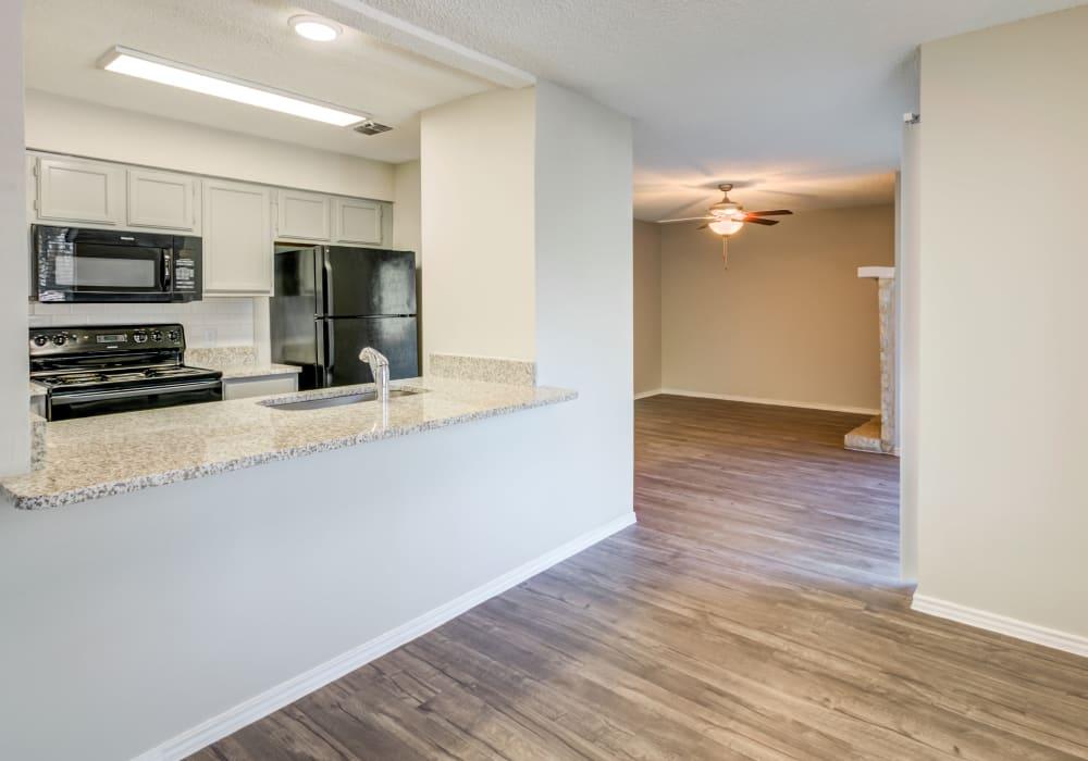 Fabulous kitchen at Turtle Creek Vista Apartments in San Antonio, Texas
