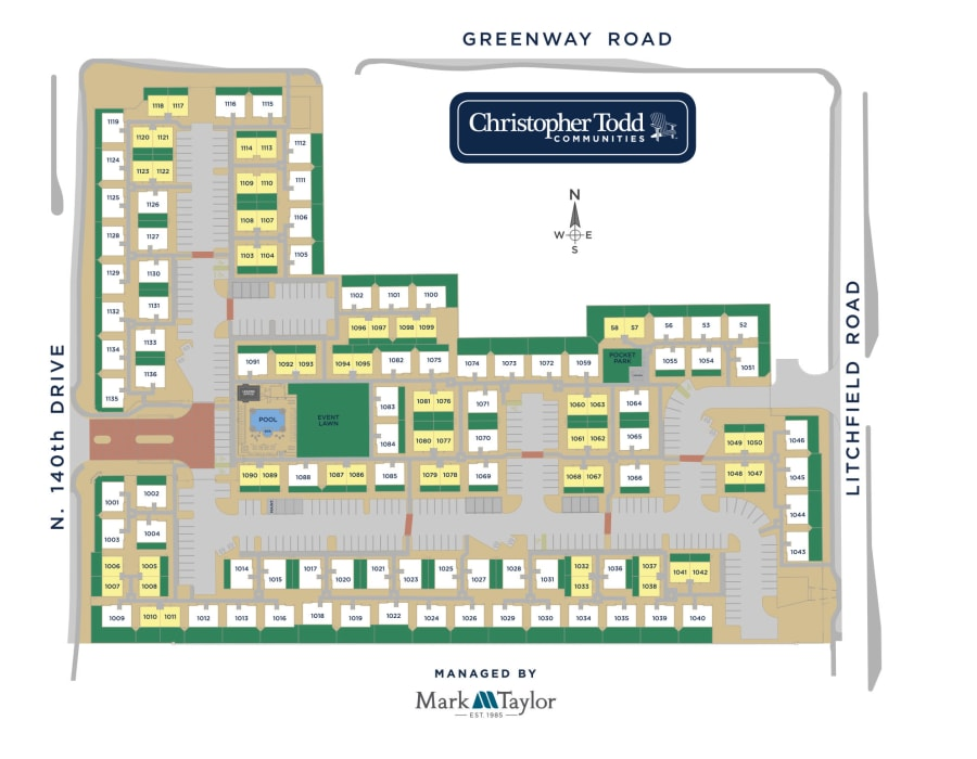 Christopher Todd Communities On Greenway site plan