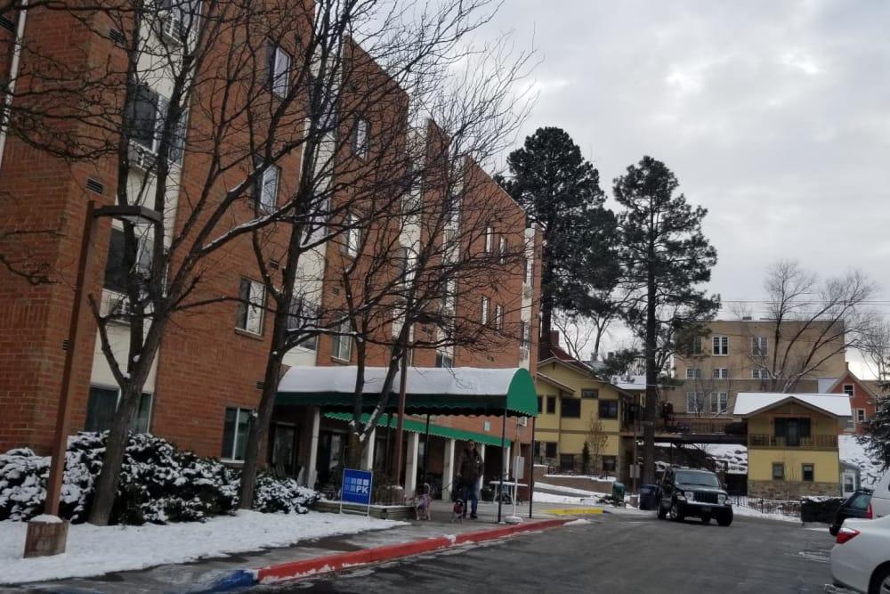 Entrance at Tamarin Square in Durango, Colorado