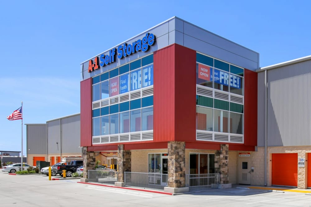 The front entrance to A-1 Self Storage in National City, California