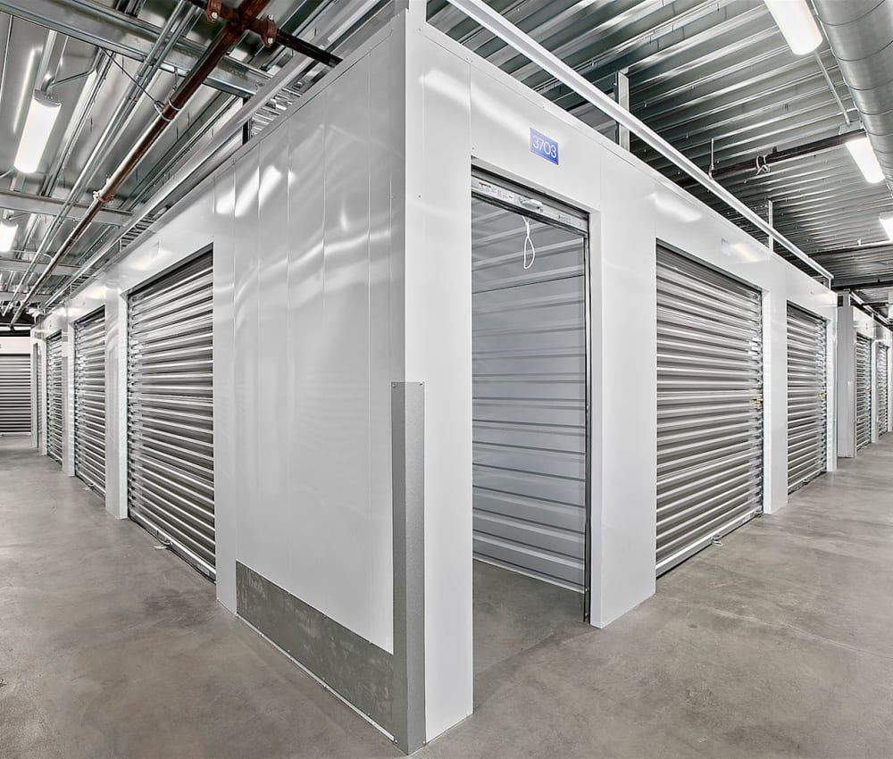 Climate-controlled storage units at Pac-It-Away Storage in San Diego, California