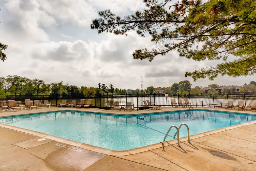 Enjoy a luxury swimming pool at Lakeside Apartments