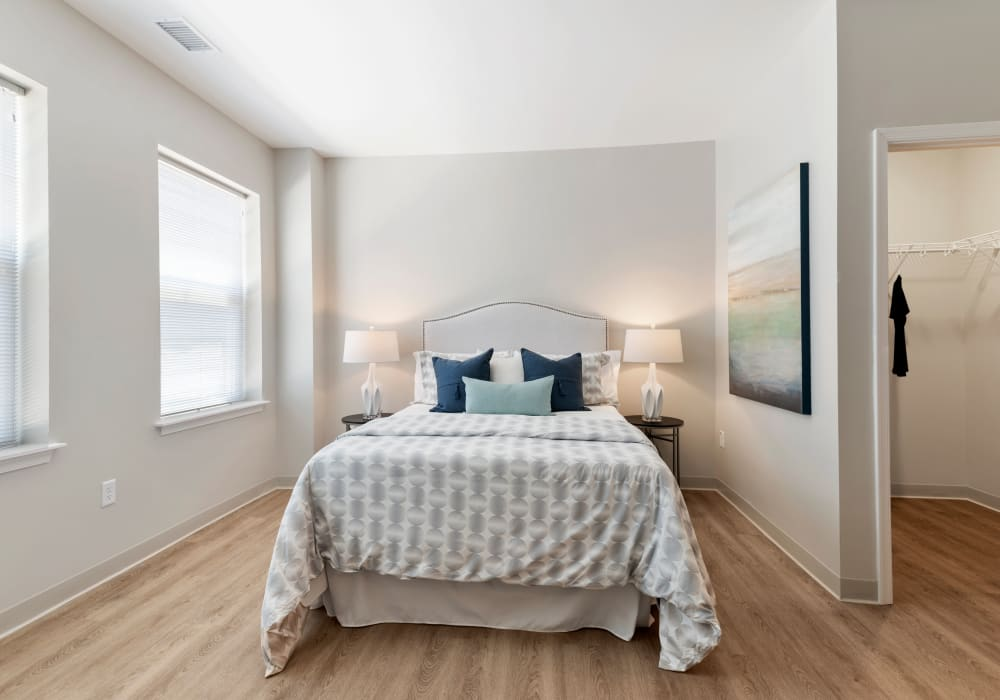 Beautiful bedroom at The Apartments at Sharpe Square in Frederick, Maryland