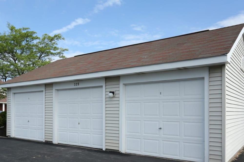 Garages at Bennington Hills Apartments in West Henrietta, New York